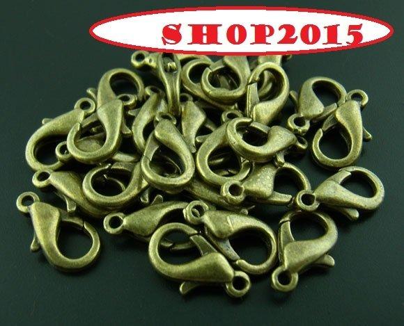 Chiusura moschettone 12 mm senza nickel  bronzo