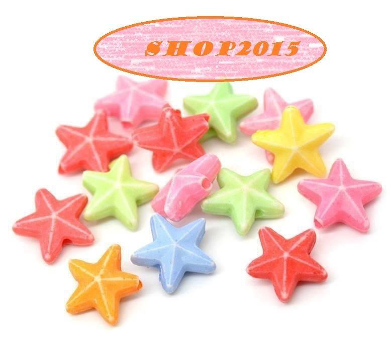 10 Distanziatori  perle stelline  colori mix misura 11x10 mm