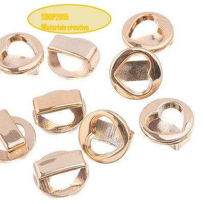Perla traforata con cuore tono rosa dorato 18x18mm Foro:15mmx4mm