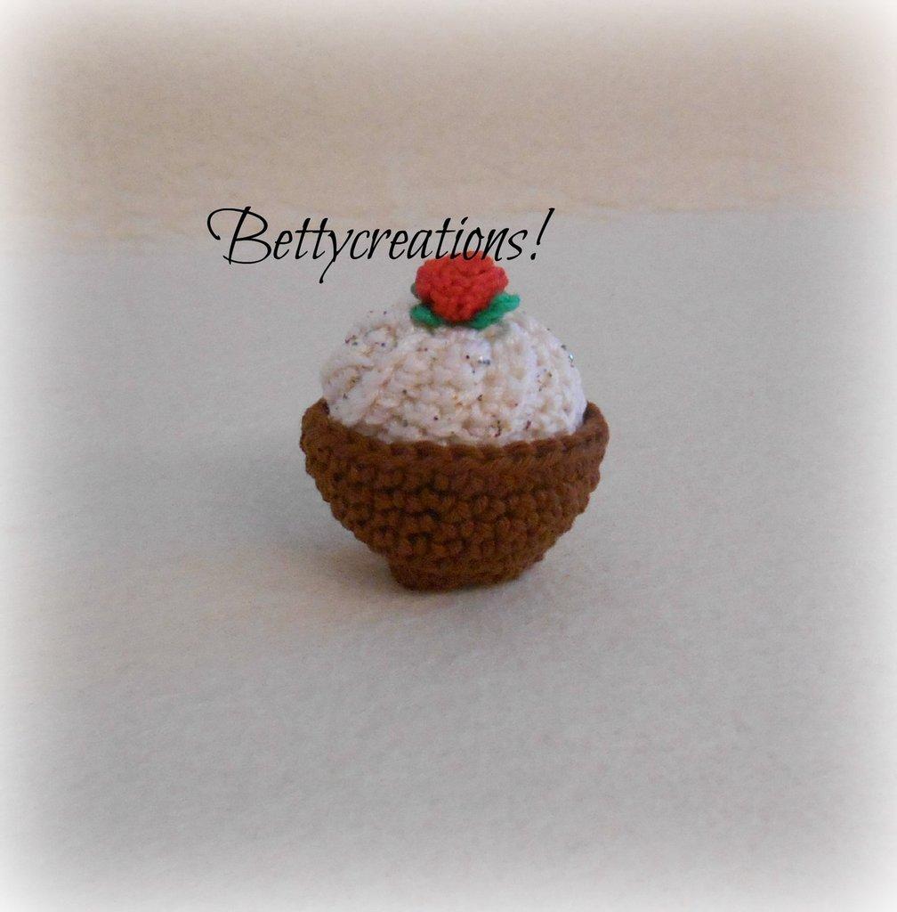 Calamita Magnete Cupcake Uncinetto 2
