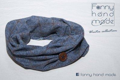 Sciarpa tubolare in tessuto di lana