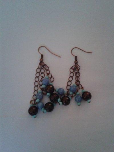 Orecchini pendenti Azzurro etnico