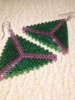 Orecchini triangolo peyote