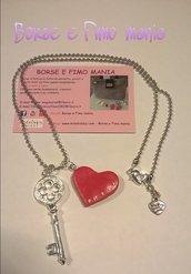 Collana San Valentino chiave del cuore