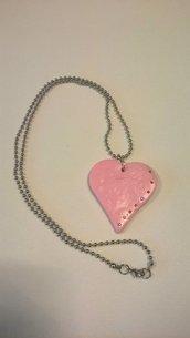 Collana cuore rosa San Valentino