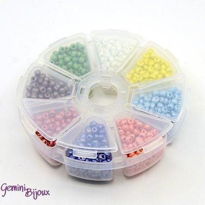 Box Perline tonde effetto ceramica mix color 4mm.