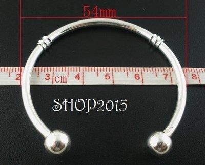 base bracciale rigido Argentato  per perle a foro Largo 19cm