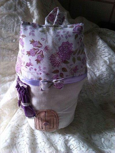 fermaporta casetta lilla