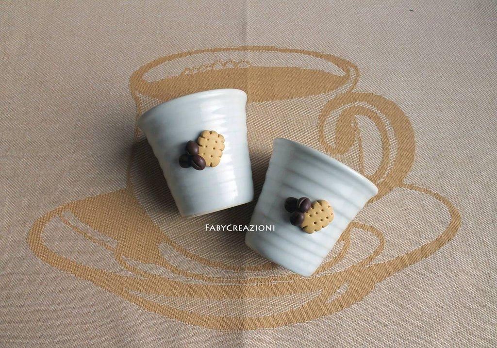 coppia tazzine da caffè in ceramica