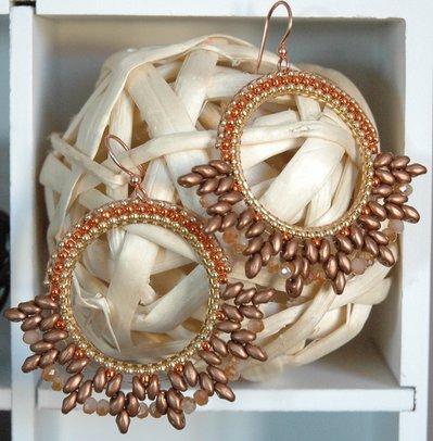 Orecchini Elegance Orange&Copper