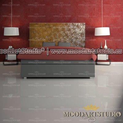 Rose Astratte - Testata da letto moderna dipinta a mano