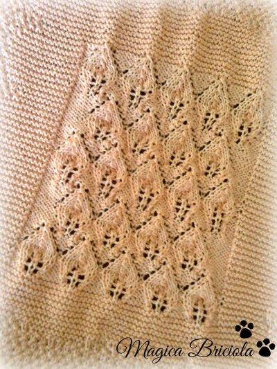 Copertina principessa a maglia