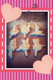 Gessi gessetti profumati ballerina segnaposto bomboniera nascita comunione compleanno