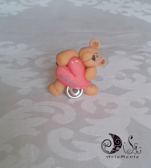 Segnaposto portafoto orsetto SanValentino