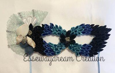 maschera di carnevale blue marine