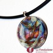 Luna Calcedonio - Pendente in vetro di Murano