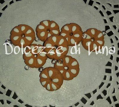 1 pezzo ciondolo charm merendina bucaneve doria in fimo fatta a mano senza stampi per orecchini o bracciali