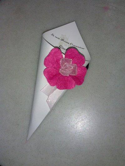 coni cartoncino confettata cerimonia artigianale con nome