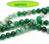 perla in pietra in agata verde 8 mm