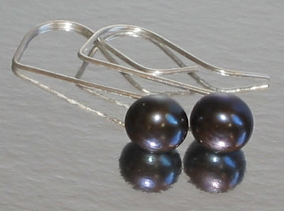 M-ixes Jewelry -Stylish Blacks- Pearl Earrings Custom Colors Available
