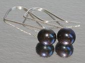 M-ixes Jewelry -Stylish Blacks- Pearl Earrings Custom Colors Available