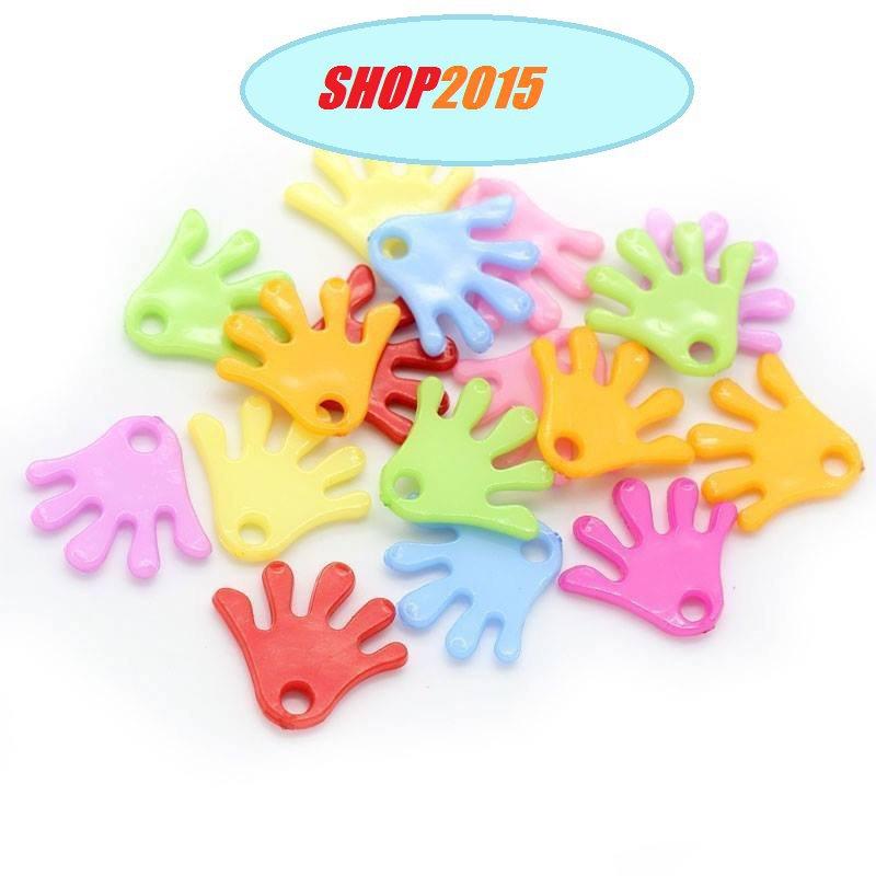 5 mix charms Ciondoli mano colori mix 2×1,9 cm foro 2,7 mm