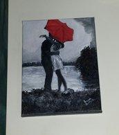Dipinto ombrello rosso
