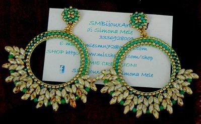 Orecchini Elegance Lobo Green Picasso