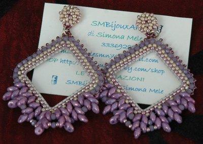 Orecchini Elegance Rombi Lilac