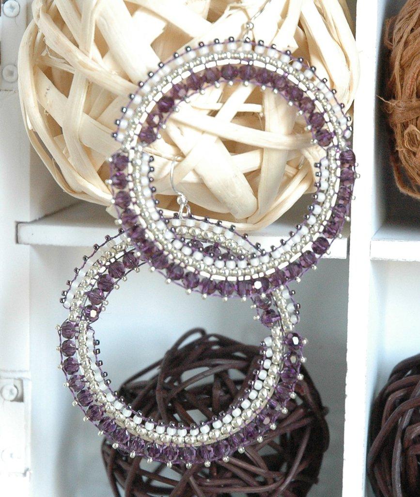 Orecchini Big Big Crystal Purple