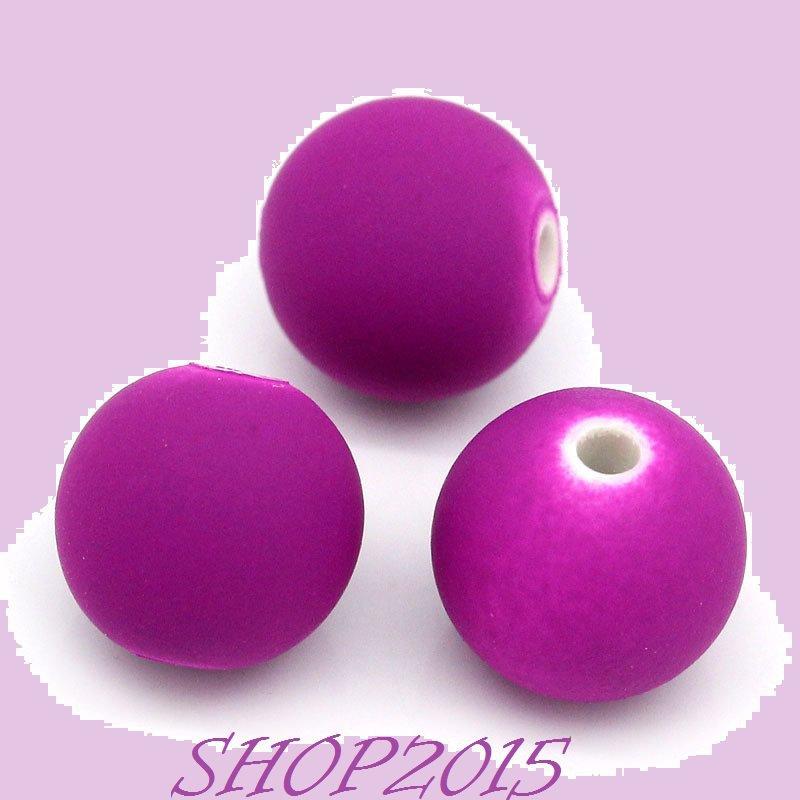Distanziatore Perla a  sfera glassata  10 mm violetto