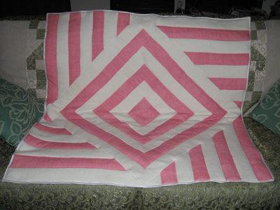 coperta bimba lavorazione patchwork geometrica lana-cotone