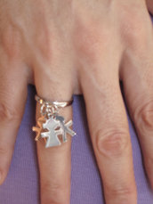 "Anello argento 925 ""babies"""