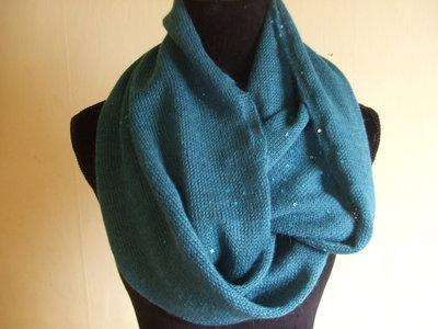sciarpa anello lana pairtes maglia