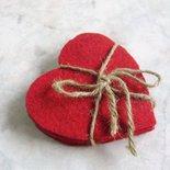 San Valentino Cuori/Set di 6 sottobicchieri in feltro fatti a mano, NO SPESE di spedizione