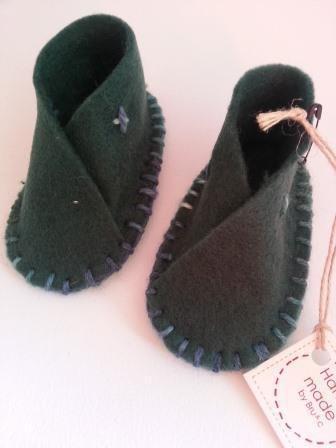 Pantofole baby in feltro Neonato