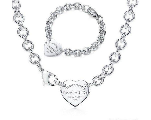 collana e bracciale placcato argento 925 idea san valentino cuori