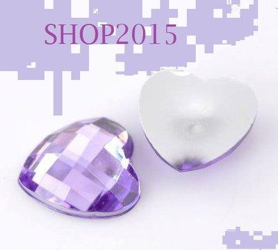 Cabochon Per Decorazione Cuore Sfaccettato violetto 14 mm