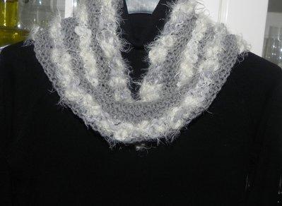 Sciarpa scaldacollo ad anello in misto lana nei toni del grigio