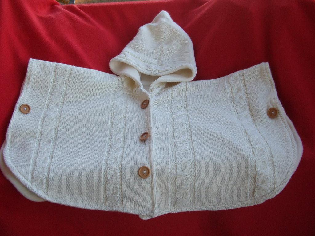mantella poncio cappotto maglia bimba