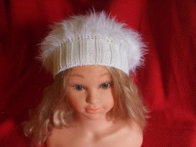 cappello beretto bimba lana maglia