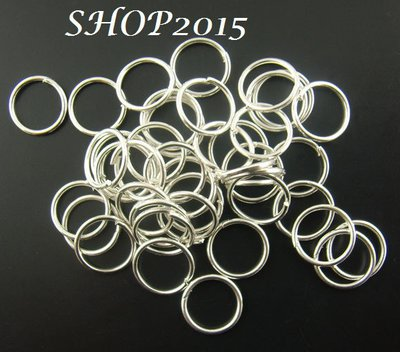 10 anellini , anelli apribili 9 mm tono argentato nikel free