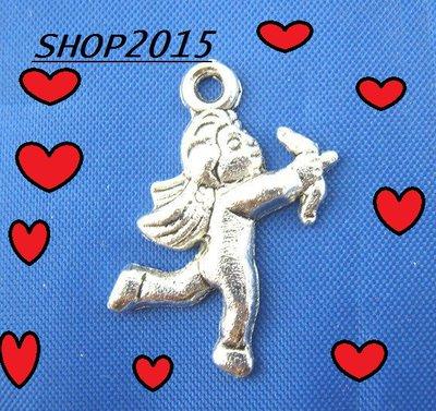 Charm ciondolo  Cupido Argento antico 1,8×2,3 cm