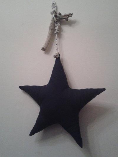 Stella blu imbottita