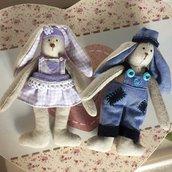 Coppia coniglietti tenerottoli