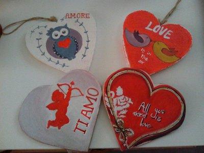 Cuori decorativi per San Valentino