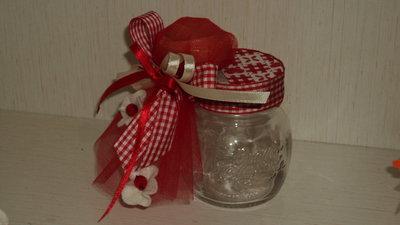 bomboniera segnaposto vasetto vetro saponetta profumata artigianale
