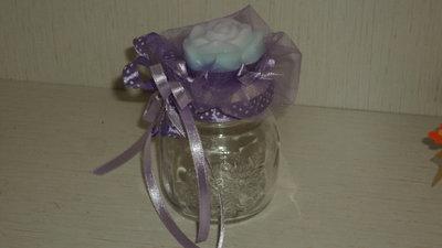 bomboniera segnaposto vasetto saponetta profumata artigianale lilla