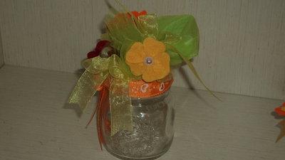 """bomboniera utile segnaposto artigianale vasetto vetro con saponetta profumata """"primavera"""""""