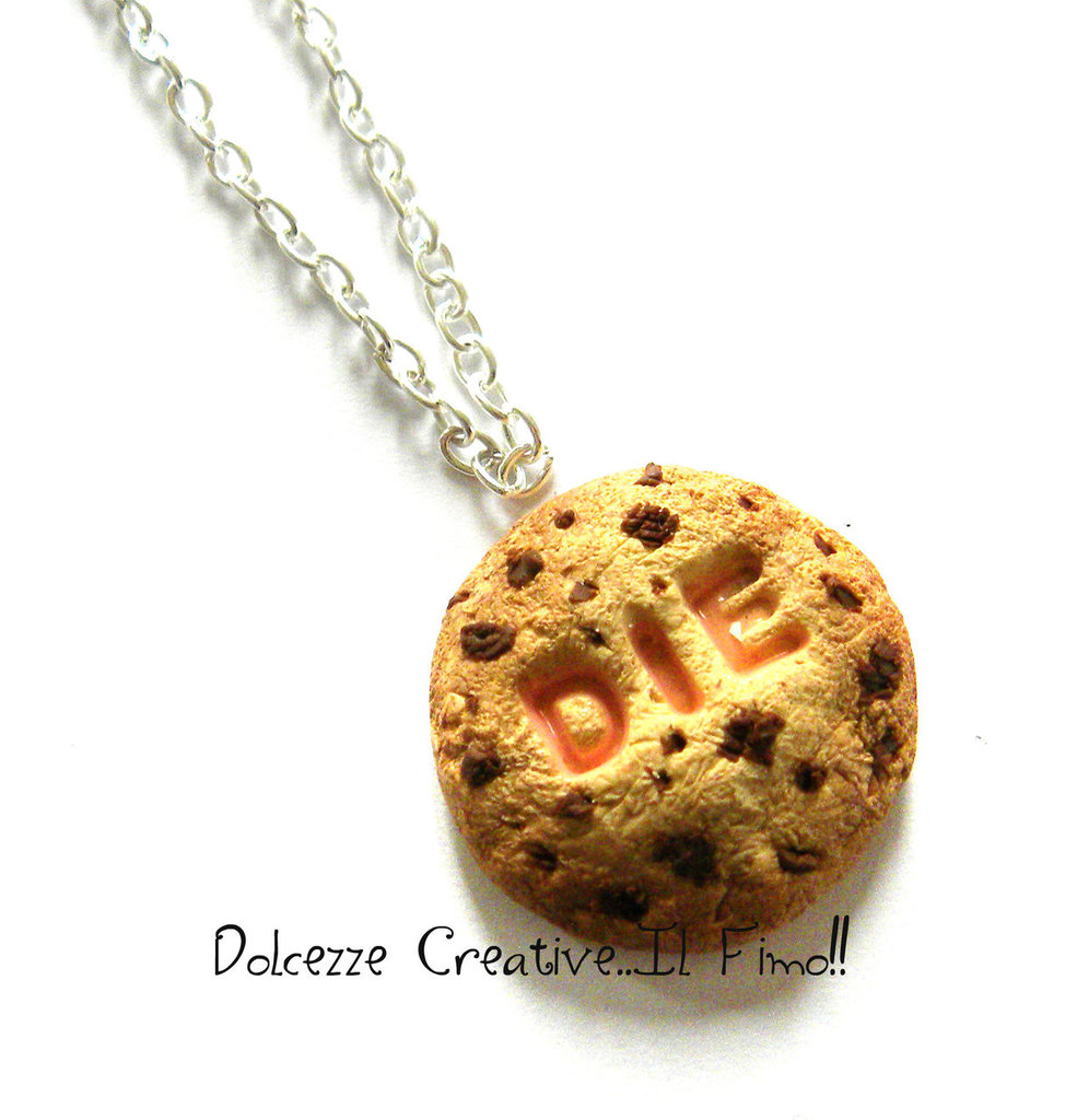 Collezione *Collane Maleducate* Biscotti cookie con goccedi cioccolato DIE - MUORI
